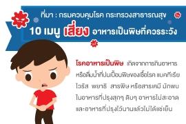 10 เมนู เสี่ยง อาหารเป็นพิษที่ควรระวัง